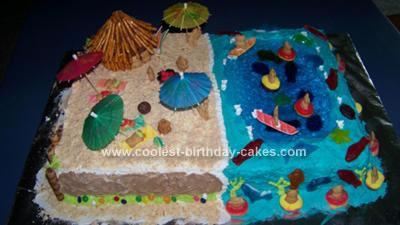 Homemade Pre School Graduation Luau Cake