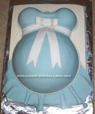 Homemade  Pregnant Belly Baby Shower Cake