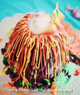 Coolest Prehistoric Volcano Cake 46