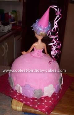 Homemade Pretty As a Princess Birthday Cake