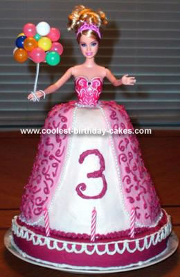 Homemade Princess Barbie Birthday Cake