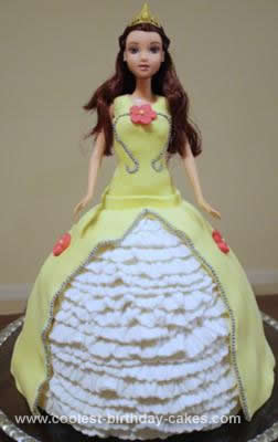 Homemade Princess Belle Birthday Cake