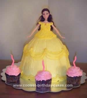 Homemade Princess Belle Cake