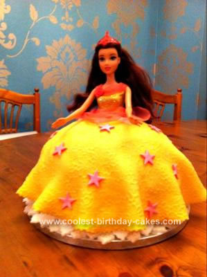Homemade Princess Belle Cake
