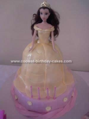 Homemade  Princess Belle Cake Design
