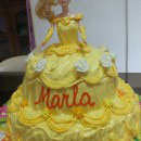 Beauty and the Beast and Belle Birthday Cakes
