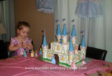 Homemade Princess Birthday Castle Cake