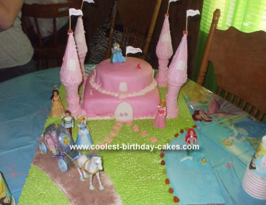Homemade Princess Caste Birthday Cake