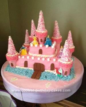 Homemade Princess Castle 3rd Birthday Cake