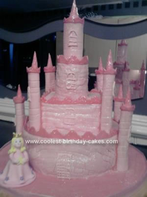 Homemade Princess Castle Birthday Cake