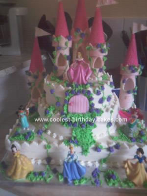 Homemade Princess Castle Cake