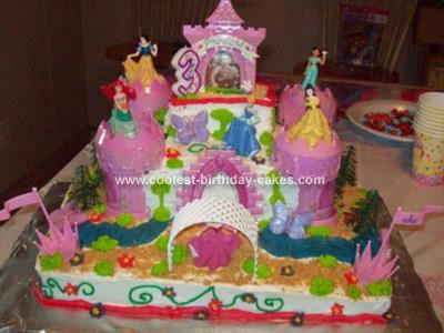 Very Girly 3rd Birthday Cake