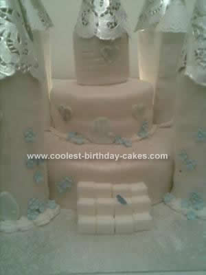 Homemade Princess Castle Cake Design