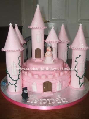 Homemade  Princess Castle Cake Idea