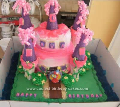 Homemade Princess Castle with Elmo Cameo