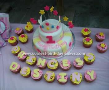 Homemade Princess Crown Birthday Cake