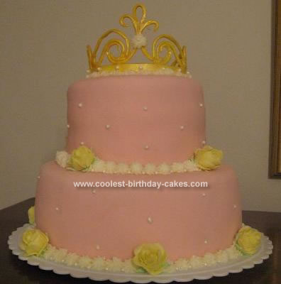 Homemade Princess Crown Birthday Cake