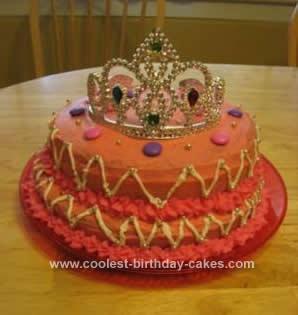 Homemade Princess Crown Cake