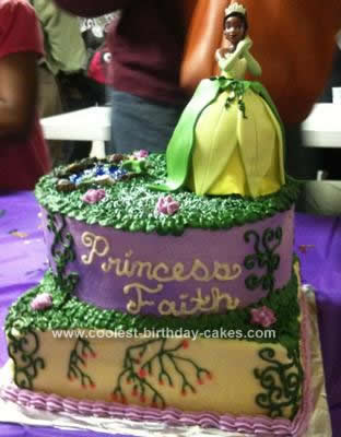 Homemade Princess & the Frog Birthday Cake