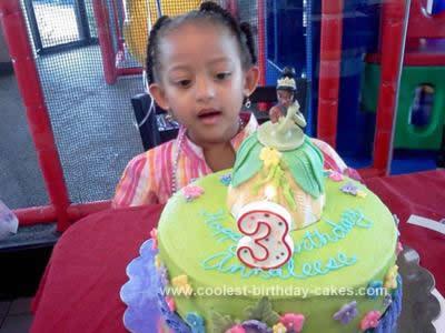 Homemade Princess Tiana Cake