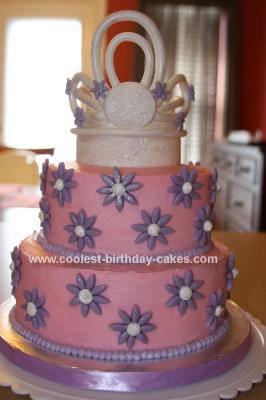 Homemade Princess Tiara Birthday Cake