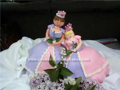Homemade Princesses Birthday Cake