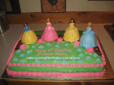 Homemade Princesses Garden Cake