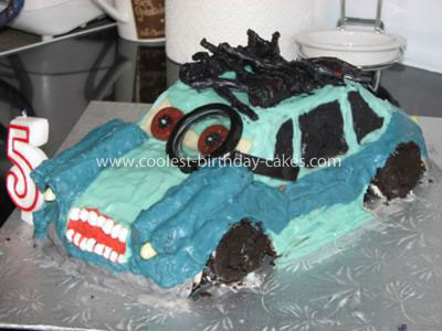 Professor Z Cars 2 Birthday Cake