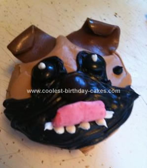 Homemade Pug Cupcake