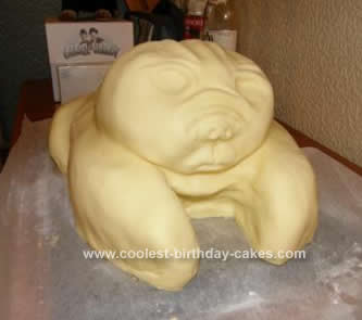 Homemade Pug Dog Cake
