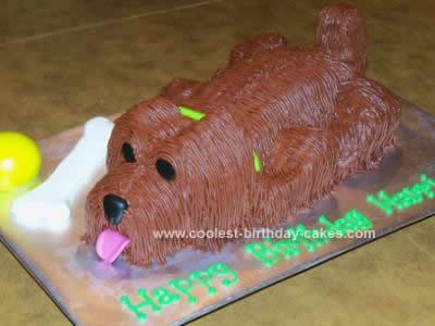 Homemade Puppy Birthday Cake