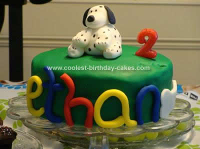 Homemade Puppy Dog Birthday Cake
