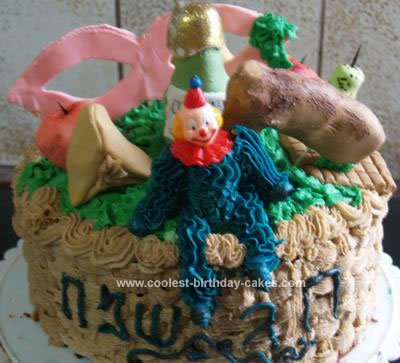 Homemade Purim Basket Cake