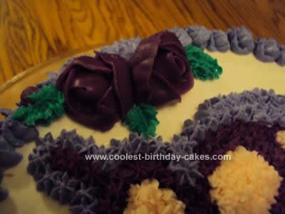 Homemade Purple Butterfly Cake