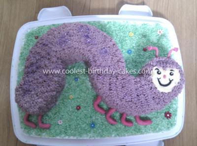 Coolest Purple Caterpillar Cake
