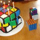 Rubiks Cube Birthday Cakes