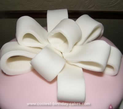 Homemade Quilted Bow Cake
