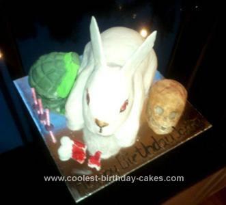 Homemade Rabbit of Caerbannog Cake from Monty Python