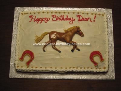 Homemade Hand Crafted Race Horse Cake