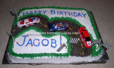 Homemade Race Track Cake