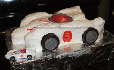 Homemade Racer Race Car Birthday Cake