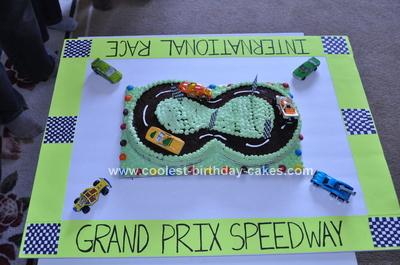 Homemade Racetrack Birthday Cake Design
