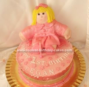 Homemade Rag Doll Cake