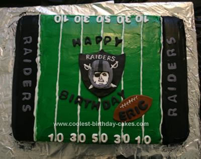 Eric's Homemade Raider Cake