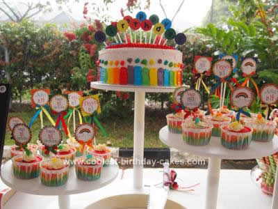 Rainbow Birthday Cake on Coolest Rainbow Birthday Cake 21