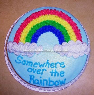 Homemade Rainbow Cake
