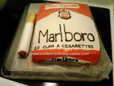 Homemade Random Cigarette Cake