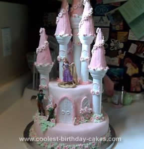Coolest Rapunzel Castle Birthday Cake