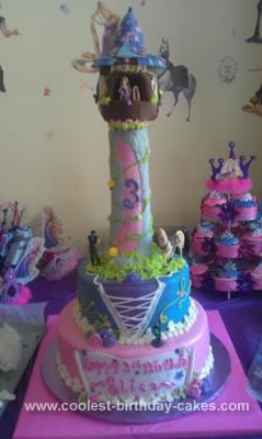 Costco Birthday Cakes on Tangled Birthday Cake On Coolest Rapunzel Tangled Castle Cake 35