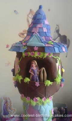 Homemade Rapunzel Tangled Castle Cake